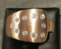Ring in 585 Rotgold mit Brillanten