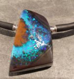 Boulder Opal als Wechselschließe