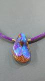 Boulder Opal mit 750 Gold